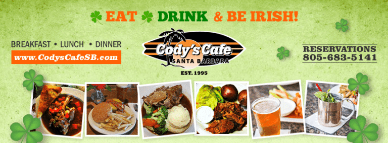Irish Dinner At Codys Cafe With Corned Beef & Cabbage
