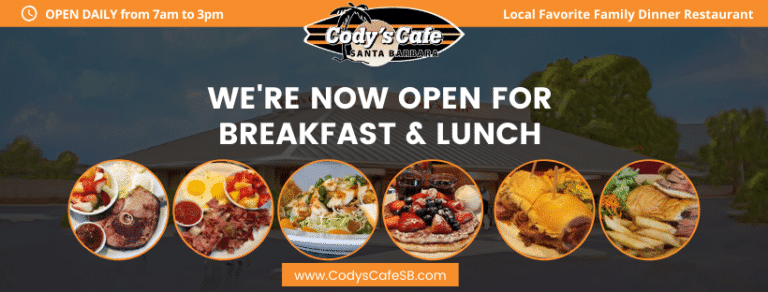 Codys Cafe Is Now OPEN For Patio Dining Only